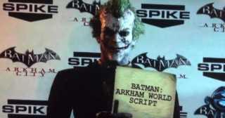 VGA'S Joker Revealed Batman Arkham City Script