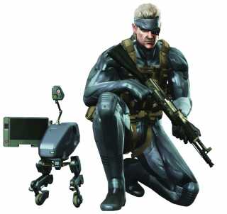 Old Snake and his trusty Metal Gear Mk. II