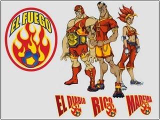 Team El Fuego. Left to Right: El Diablo, Rico, and Madeira.