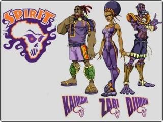 Team Spirit. Left to Right: Kaimani, Zari, and Djimon.