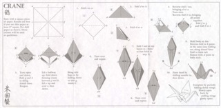 Instructions for folding an origami crane