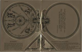 Cardboard sundial