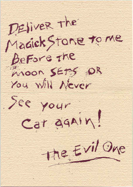 The Evil One's letter