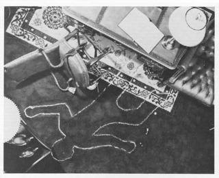Photo of crime scene