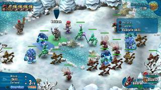 An example of turn-based combat