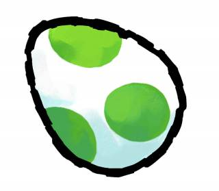 A Yoshi Egg from Yoshi's Island DS.