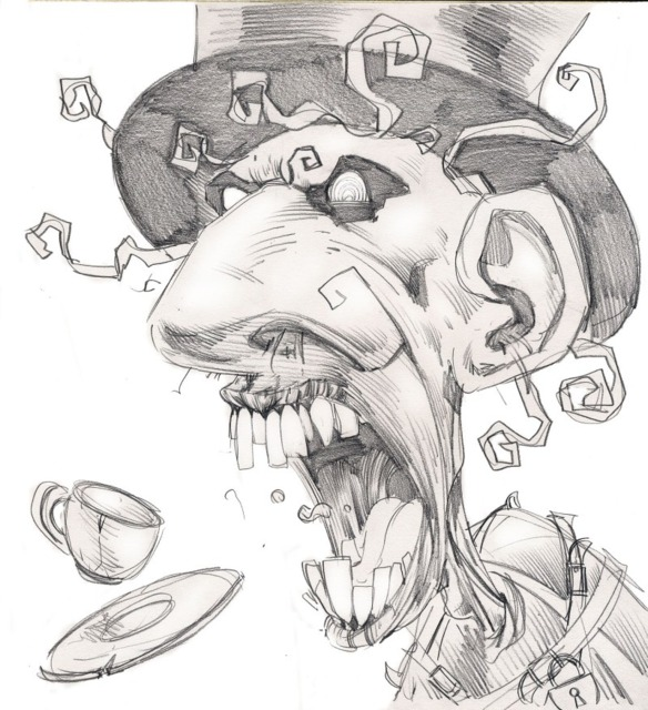 Mad Hatter's Concept Art