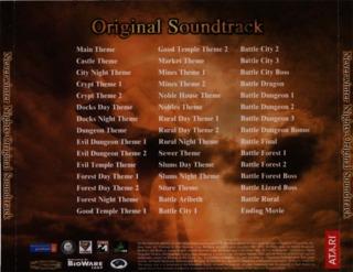 Artwork for the Soundtrack's Back Cover