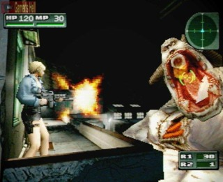 The gameplay for Parasite Eve 2 was deeper but less stylish than the original. The fire and aim controls moved to the shoulder buttons.