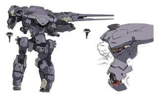 Concept / Manual art for Metal Gear Gander from Metal Gear: Ghost Babel (2001)