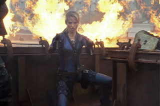 Sienna Guillory as Jill in RE 5