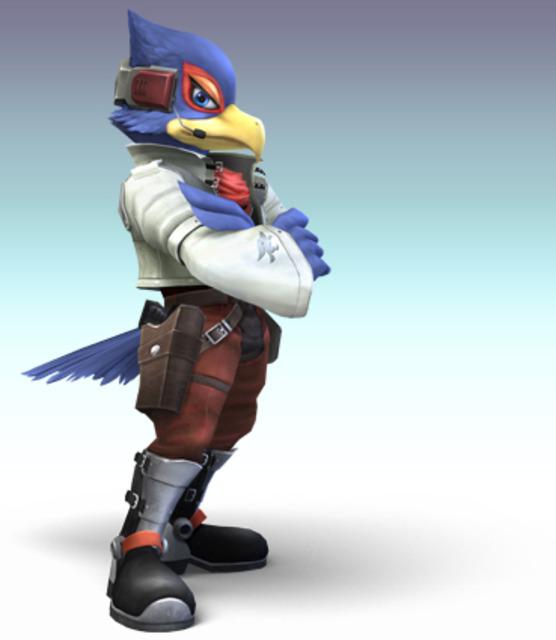 Falco as seen in Super Smash Bros. Brawl