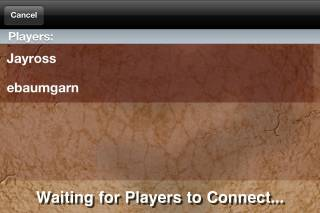 Once Game Center has found players, it will then connect you to them in the game.