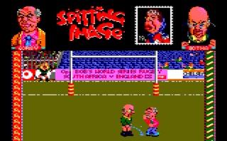 Botha peeing on Gorbi (Amstrad CPC)