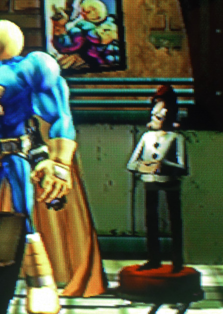 Kefling statue in Comic Jumper