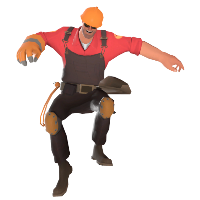 Taunt position when the shotgun is equipped.