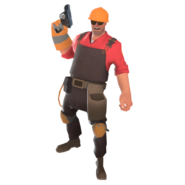 Taunt position when the pistol is equipped.