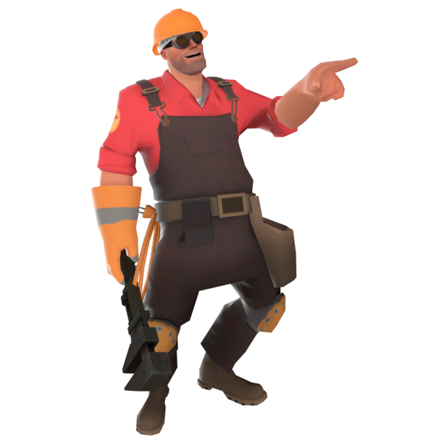 Taunt position when the wrench is equipped.
