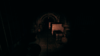 Oswald illuminating an underground area with the lantern.
