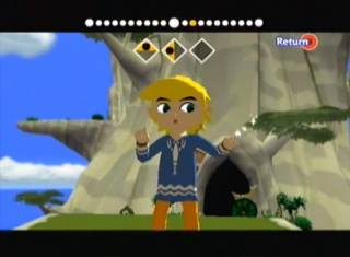 Link sporting a more casual look on his second run through this adventure.