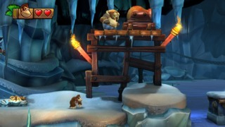 Donkey Kong does not have to enter dimly lit ice caves alone.