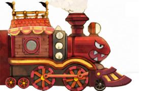 Kids love trains.