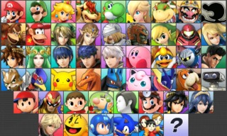 The complete roster, prior to the DLC characters