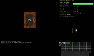 The start of the game. The stairs lead to the exit of the dungeon.
