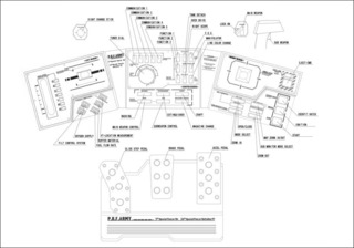 The layout of all controller parts from the manual (with the joystick buttons at the top-left and top-right).