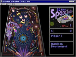 A standard game of 3D Pinball for Windows, running on Windows 98.