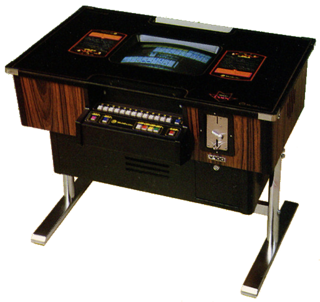 The standard table cabinet commonly used for early video mahjong games, utilizing the standard mahjong control panel configuration.