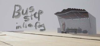 Bus Stop in the Fog