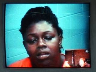 This is the moron who endangered her 3 year old  child.