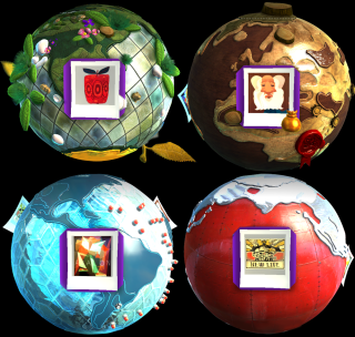 An example of a few of LBP2's planet themes.
