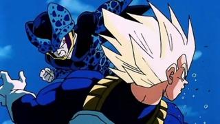 Cell Jr. attacks Vegeta