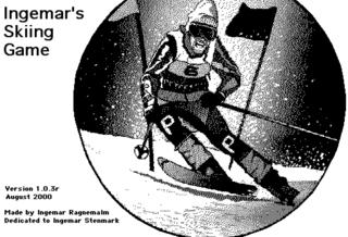 Ingemar's Skiing Game