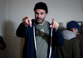 Sanchez on the set of Lovely Molly, a possession film he wrote, directed, edited.