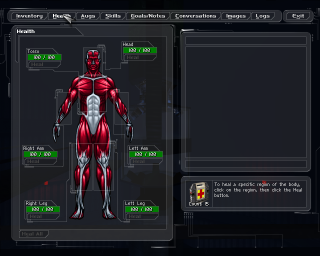 Deus Ex Limb based health system in the PC version of the game
