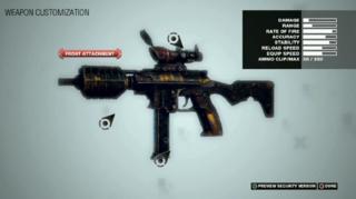 Weapon customization.