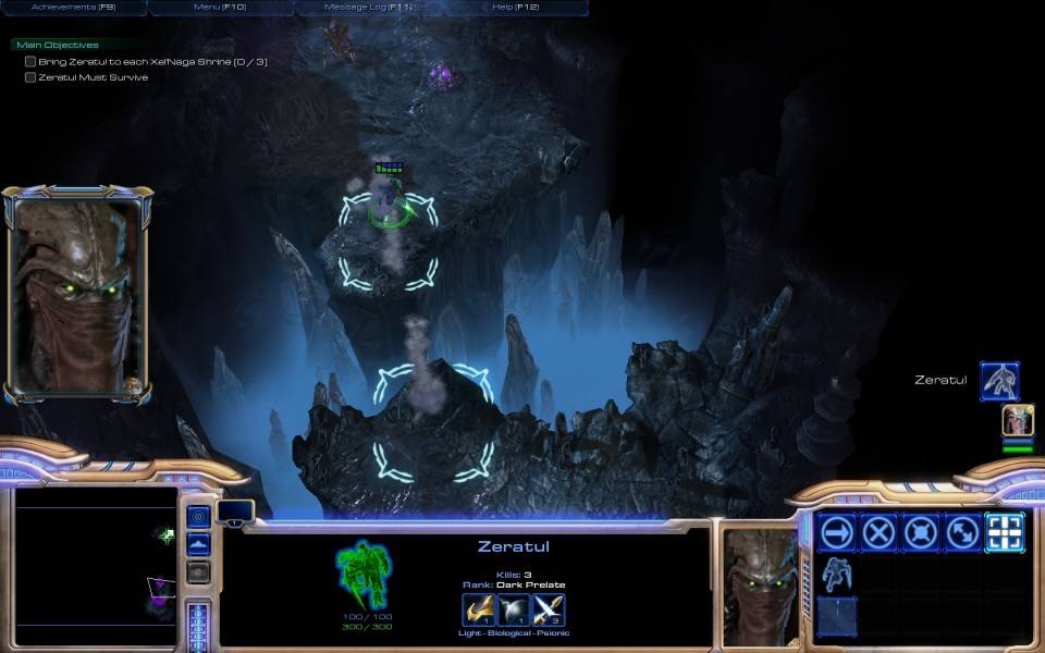 Zeratul's dungeon-crawling side mission will test your micro skills.