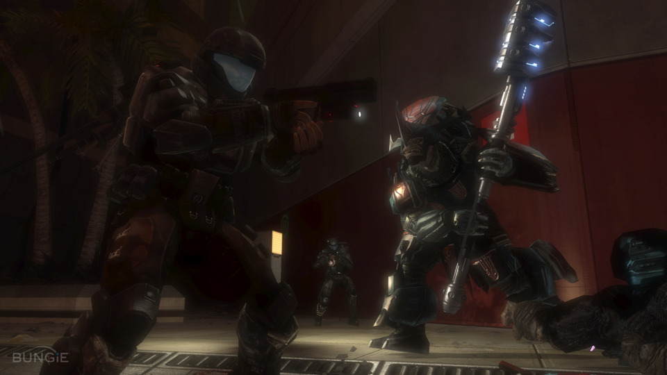 This guys used to be deadly as the Chief. Now taking one down requires some major teamwork as an ODST.