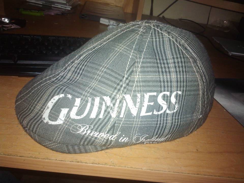 The hat I've worn every day for the past 2 years, its become permanently infused into my persona.. also Guinness is awesome. though the more i think about it, it would complicate things come Christmas time when everyone places santa hats on their avatars.