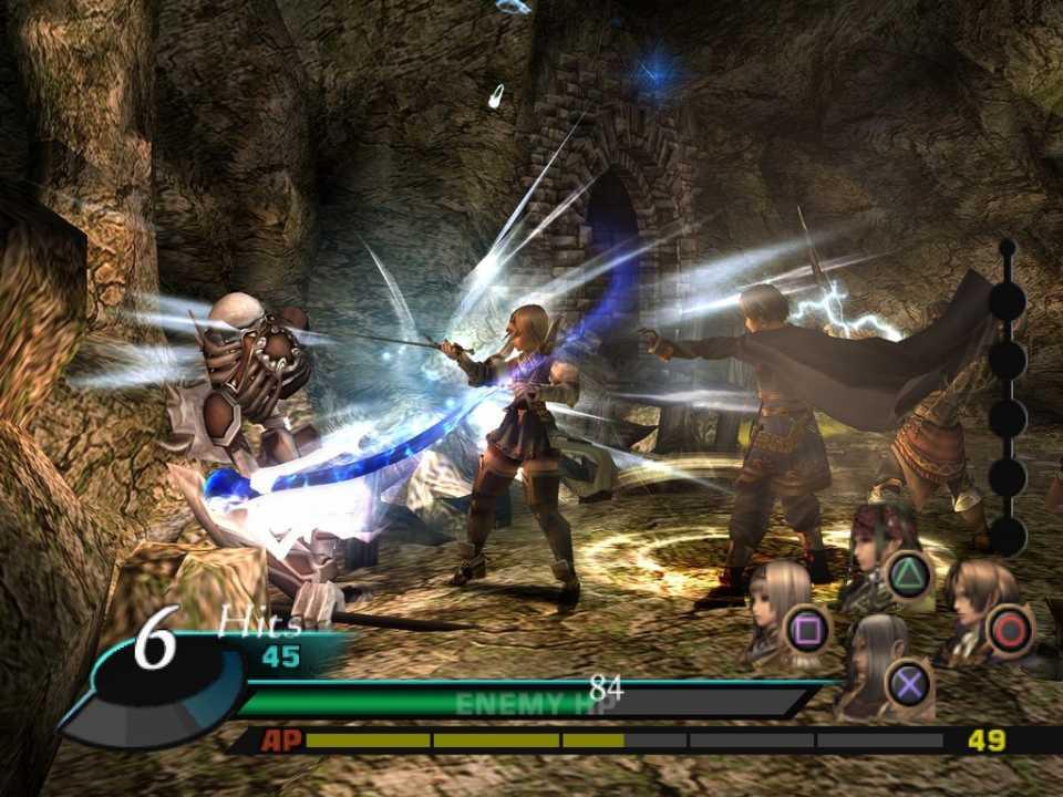 Screenshot of the battle screen