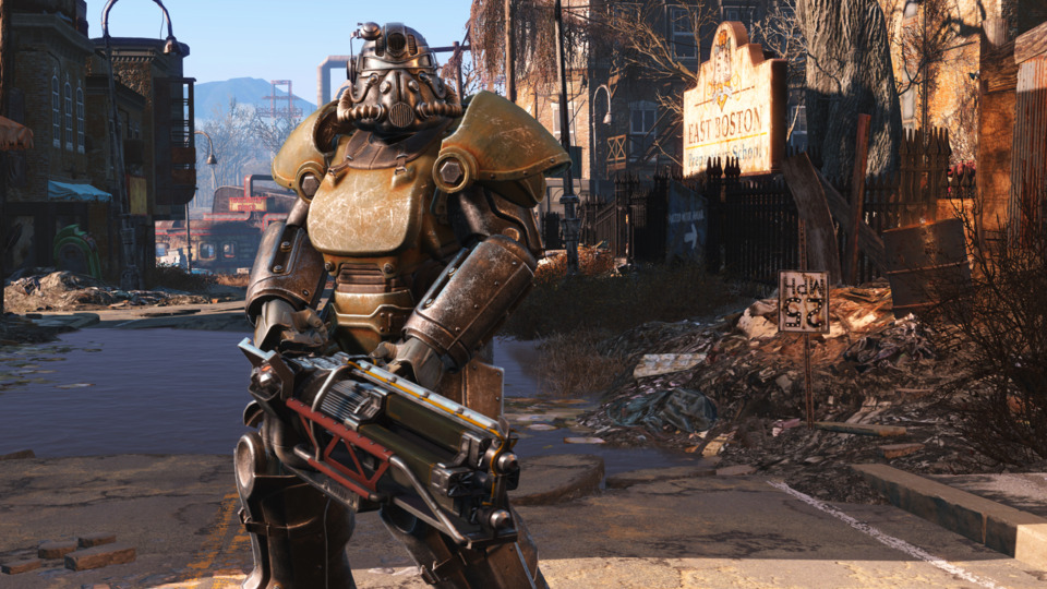 You get a set of power armor almost immediately, which is a nice twist.