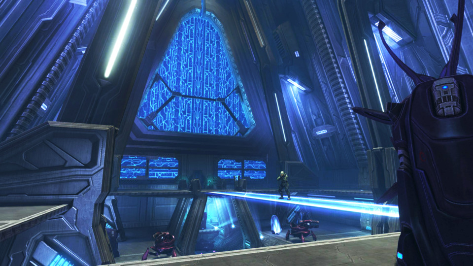 Anniversary's visuals are roughly on par with the other 360 Halo games.