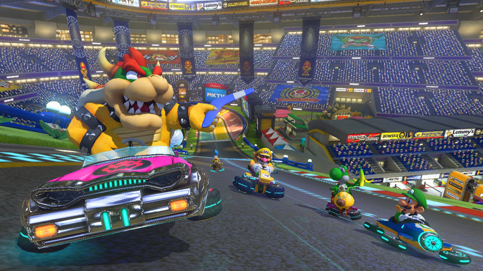 Mario Kart 8 is pretty much the Mario Kart we've always known, but it's one of the better versions of it. I give it four Mario Karts out of Mario Kart.