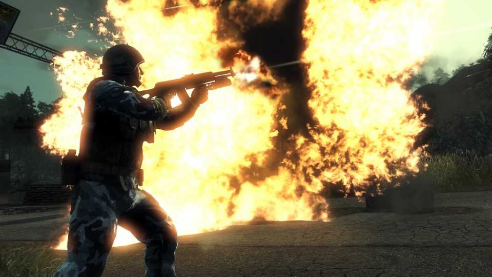 Bad Company has lots of explosions like this one