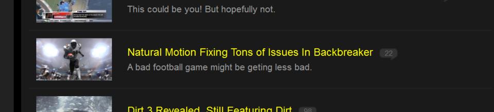 Oh, really?