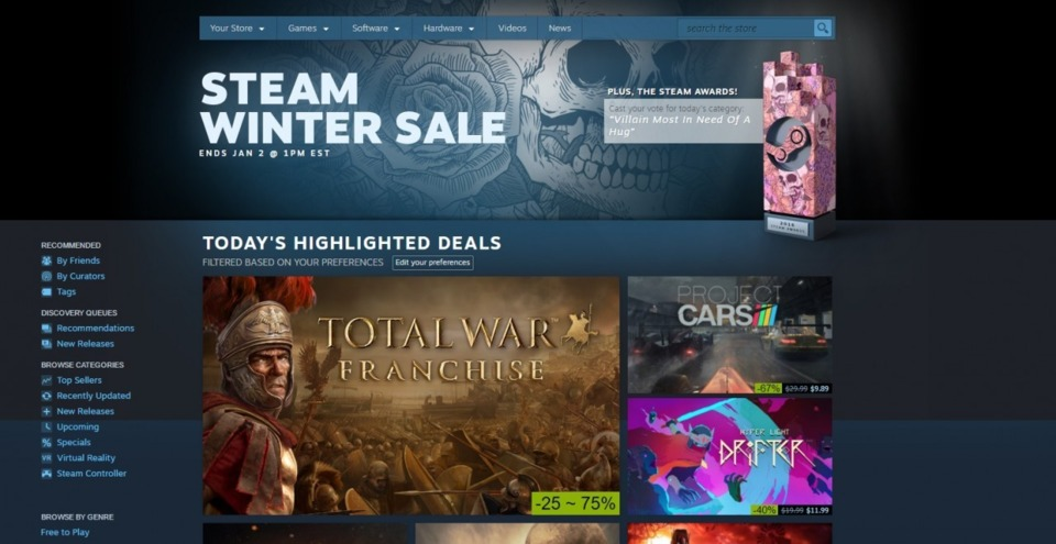Best of luck surviving this years' Steam Winter Sale.
