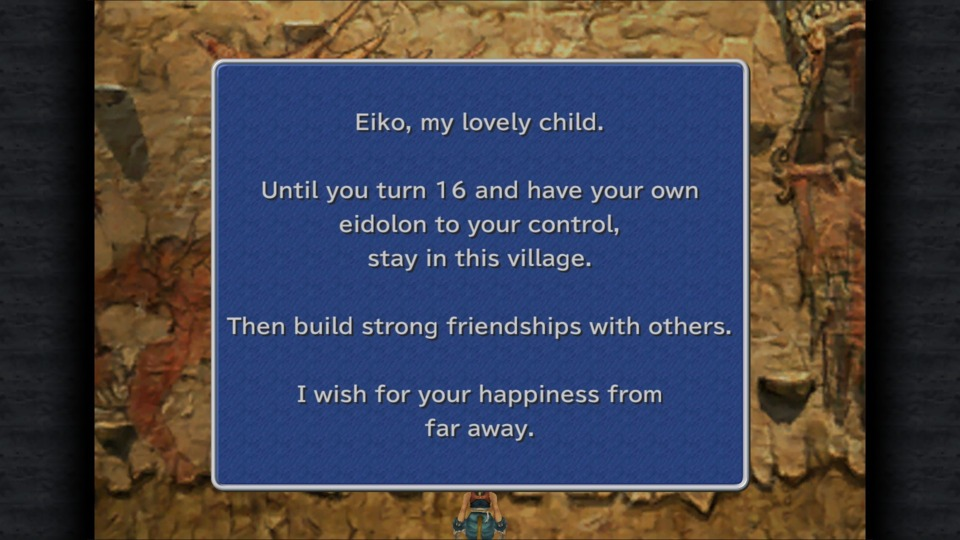 There's an equally poignant note from Eiko's grandfather... which you fail to inform Eiko about.